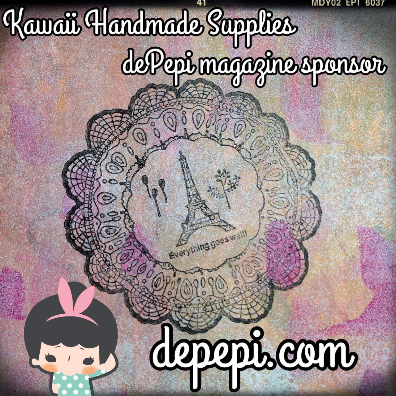depepi, depepi.com, kawaii, mixed media, mixed media art, journaling,  depepi magazine, stamps, cute