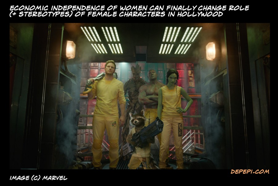 gotg, guardians of the galaxy, women, women stereotypes, women status, hollywood, movies, comics, depepi, depepi.com